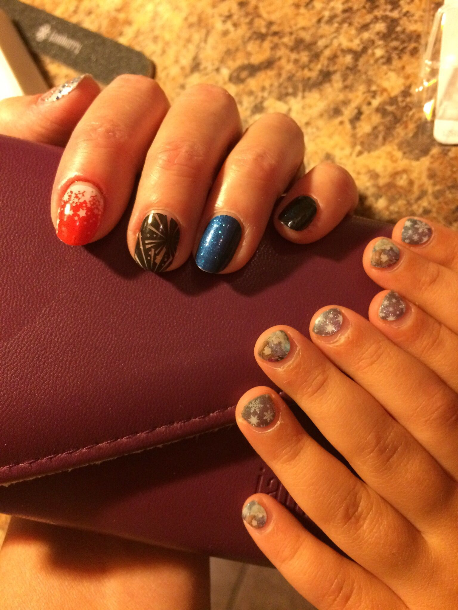 love mommy & me mani time!