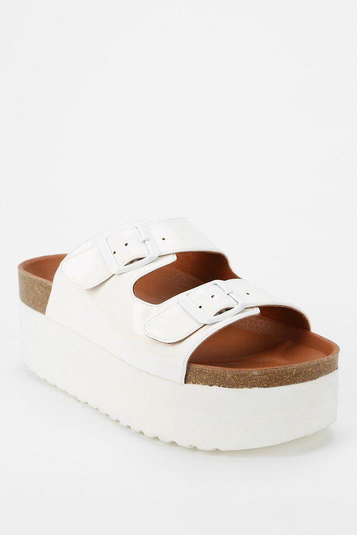 67 Indigo Platform Sandal $89.00