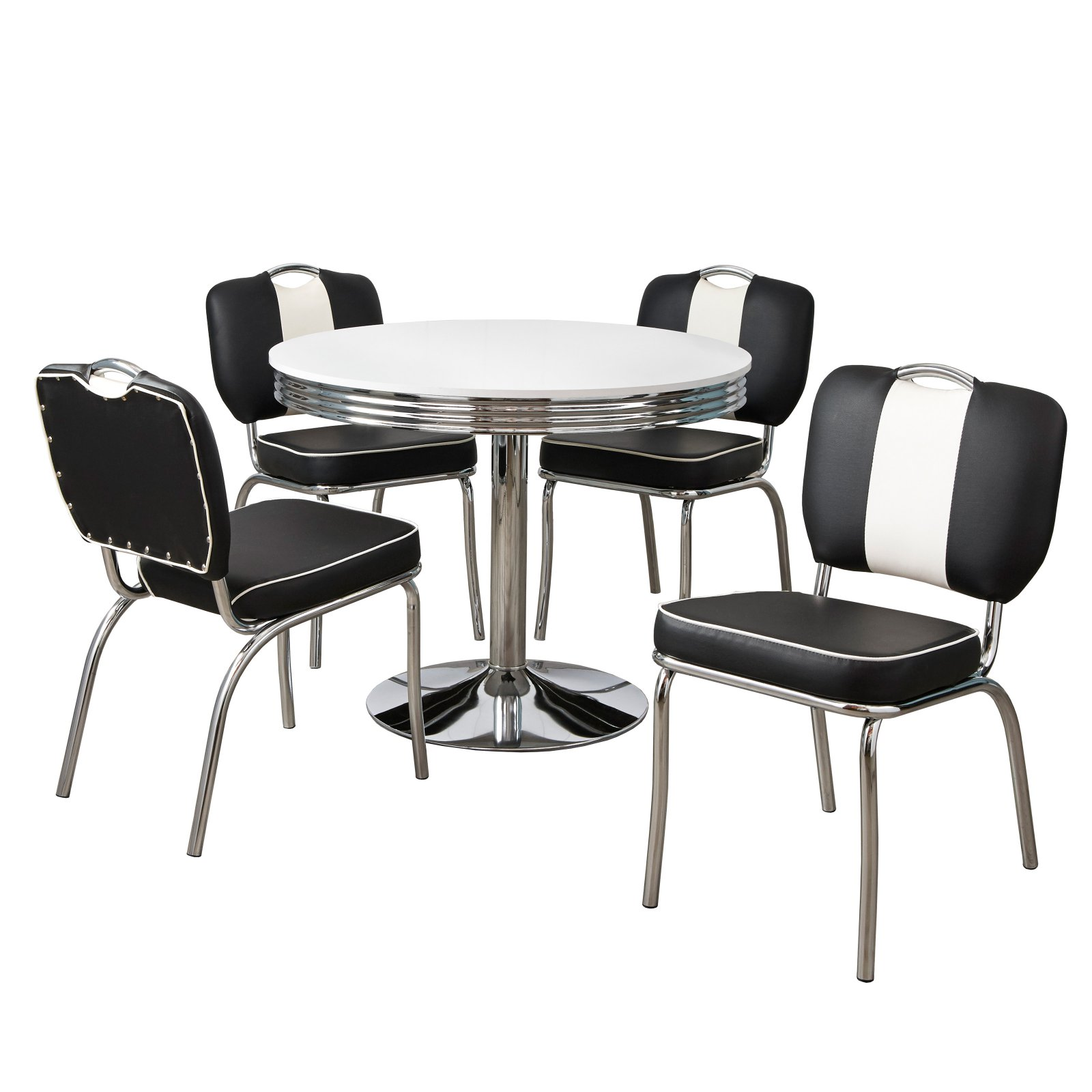 Target Marketing Systems Raleigh 5 Piece Dining Table Set Black