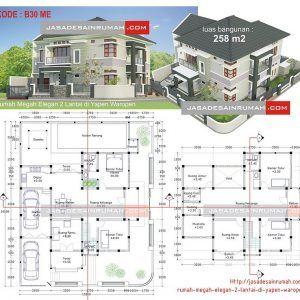 918+ denah rumah kost minimalis 2 lantai   denah rumah