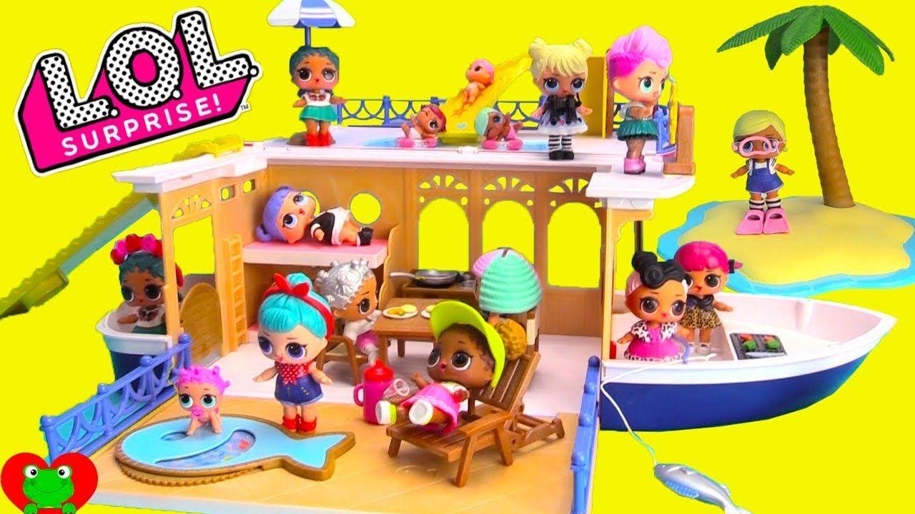 Lol Surprise Dolls Seaside Cruiser House Boat Vacation Surprises