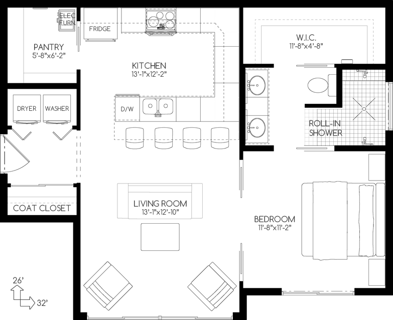 Compact Design with Full Sized Amenities The perfect inlaw suite – Compact House Floor Plans