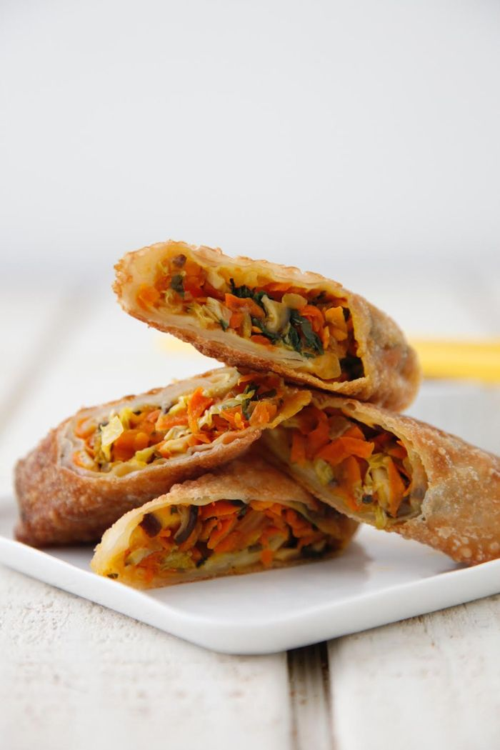 Make Vegetarian Spring Rolls for an easy weeknight dinner or a delicious game day snack! Perfect for meatless Monday or any day of the week!