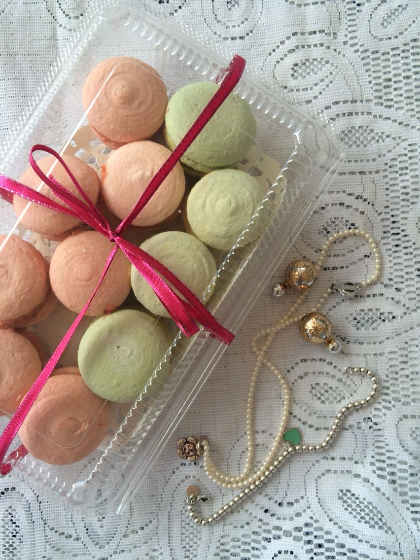 Macarons jewelry pearls earrings