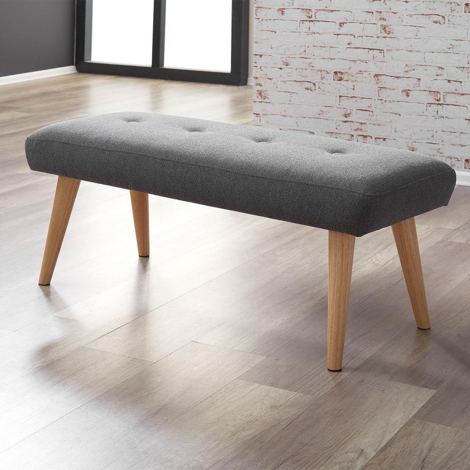 Sitzbank Egedal Gepolstert Anthrazit Furniture Dining Bench