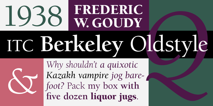 Berkeley Oldstyle™ - Desktop font « MyFonts