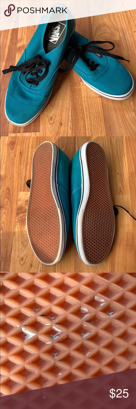 Teal vans, Vans, Womens shoes sneakers