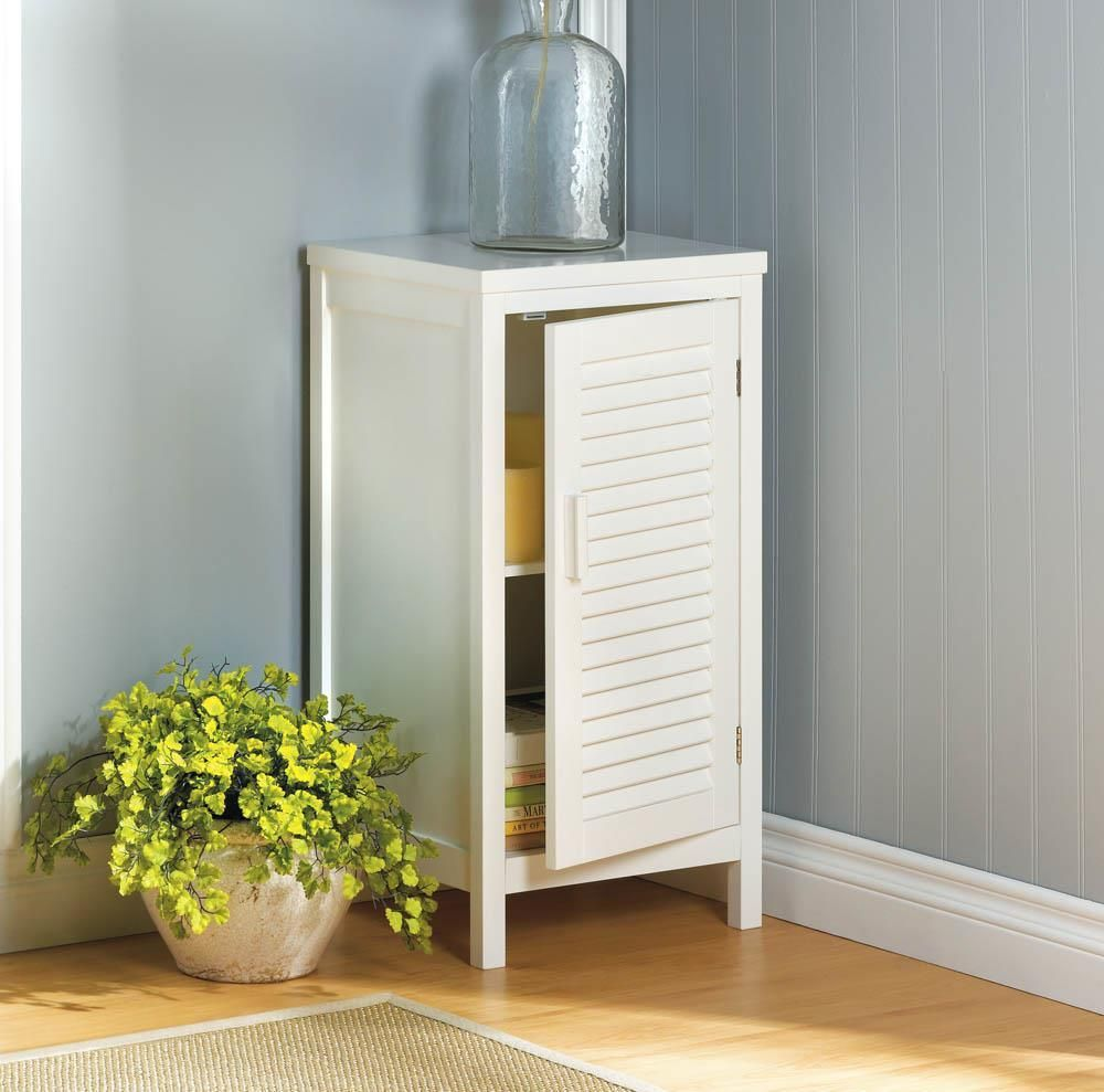 Lovely Nantucket Standing Cabinet | White Shutters, Storage Cabinets And Storage.