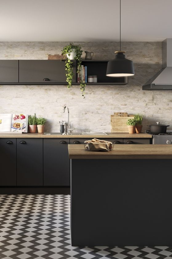 Black Olive Doors In Modern Profile Nutcracker Bench Tops Matt Black Cup Handles Kitchen Renovation Trends Cosy Kitchen Flatpack Kitchen