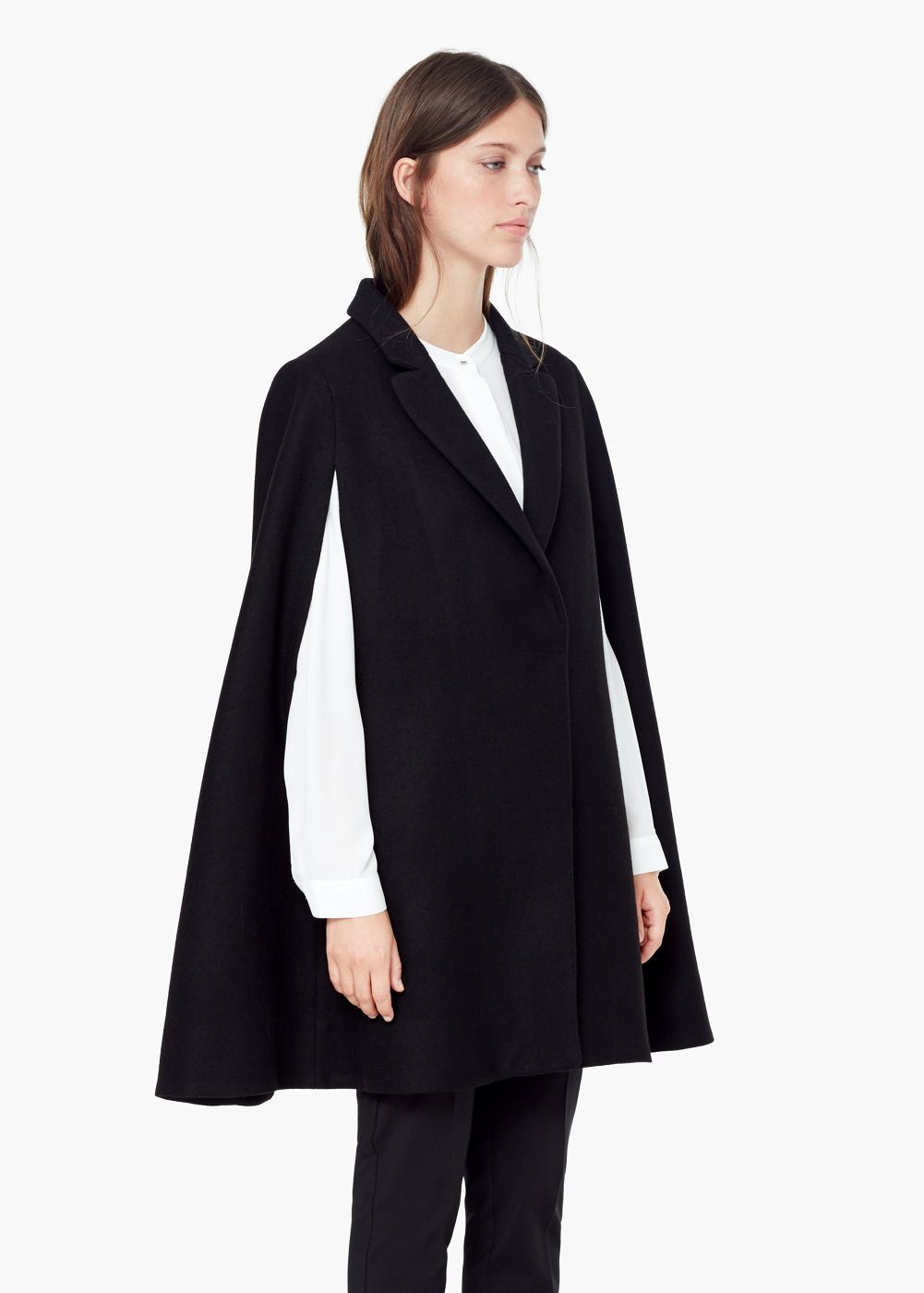 7ff3fb5587fc Cape en laine - Manteaux pour Femme
