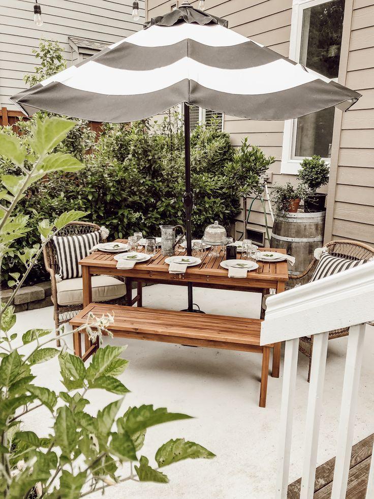 31+ Farmhouse style outdoor table ideas