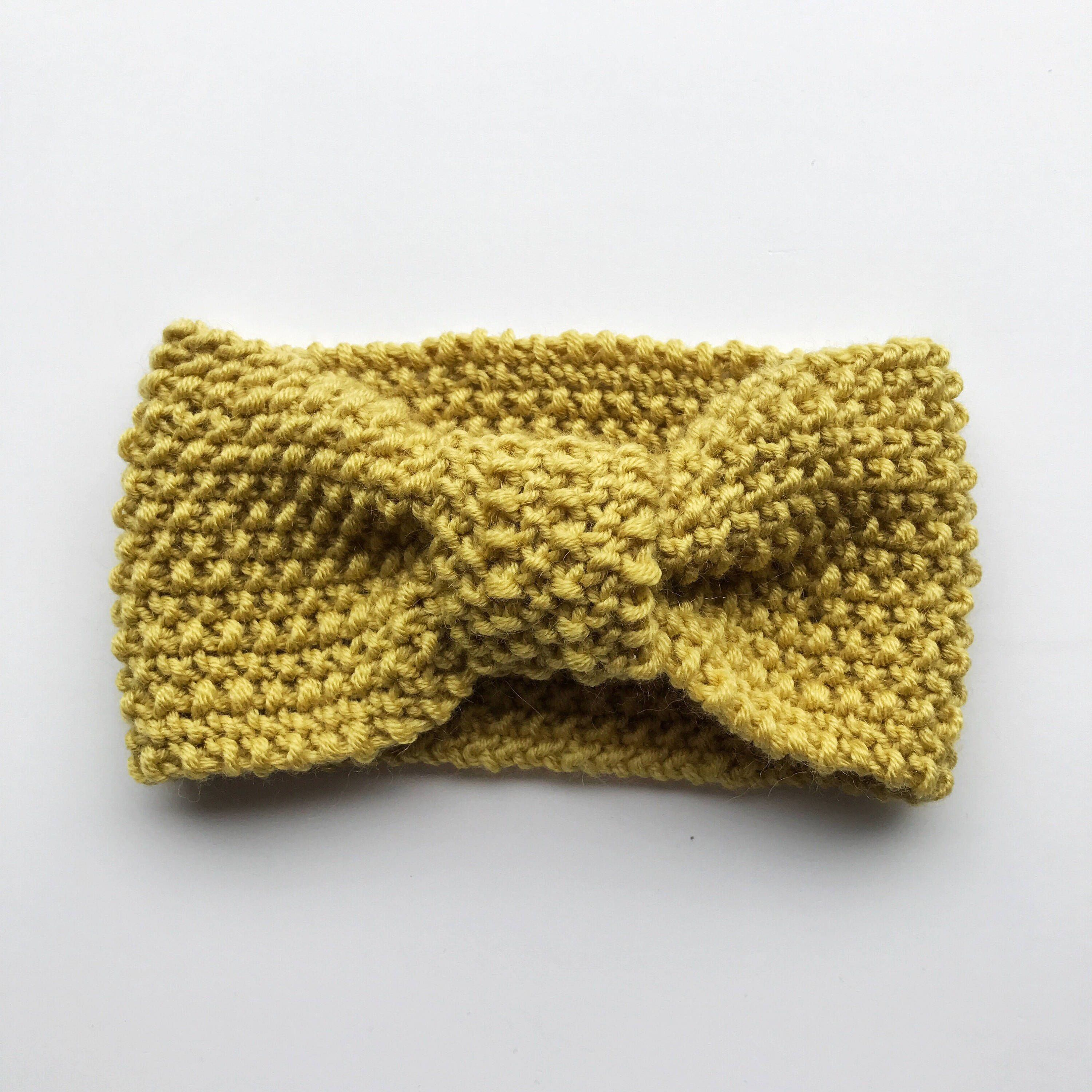 Knitted baby headband - kids hair accessories - childrens knitted ...