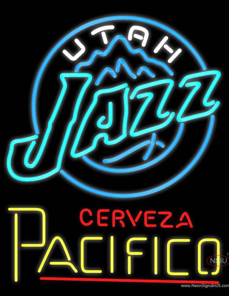 d35136dc76 Cerveza Pacifico Utah Jazz NBA Neon Beer Sign