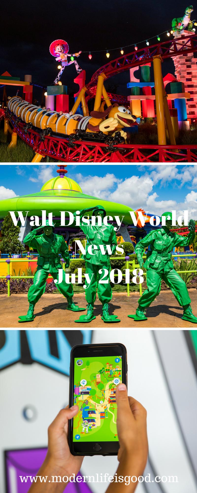 Walt Disney World News July 2018 Disney world news, Walt