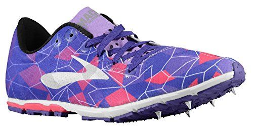 Brooks Mach 16 Womens Cross Country Spikes Azaia/Deep Lavender/Deep Blue  Size (B)