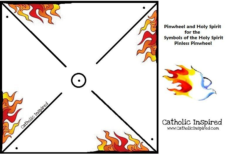 Pentecost Pin Less Pinwheel Symbol Of Fire And Wind Pentecost