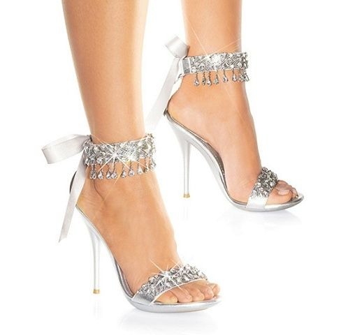 3ecca92bd5fd26 Strappy Sparkly Heels - Ha Heel