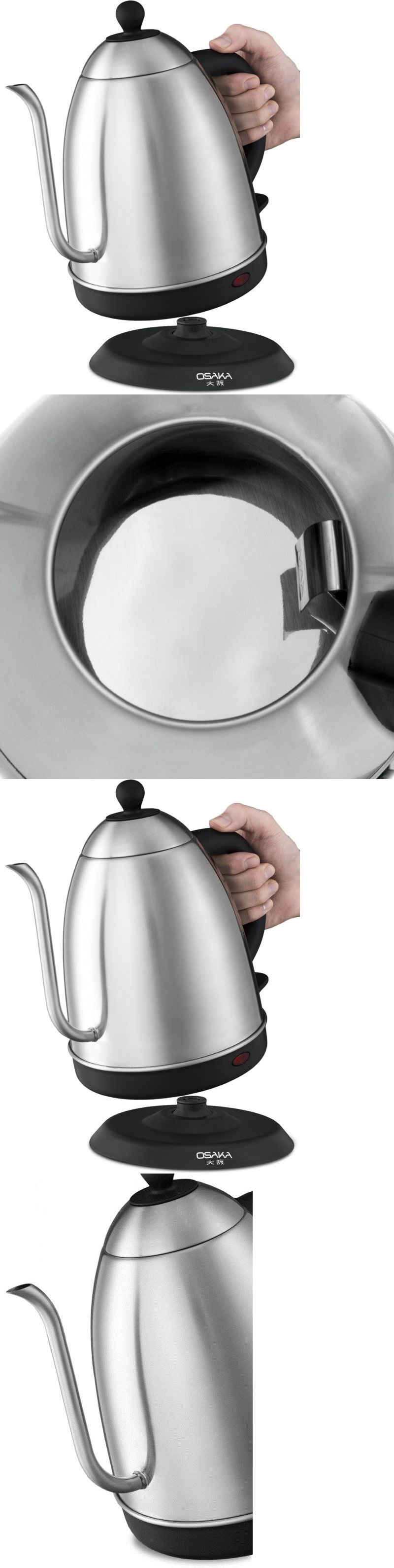 tea kettles 15 liter electric gooseneck drip cordless kettle for pour over coffee and