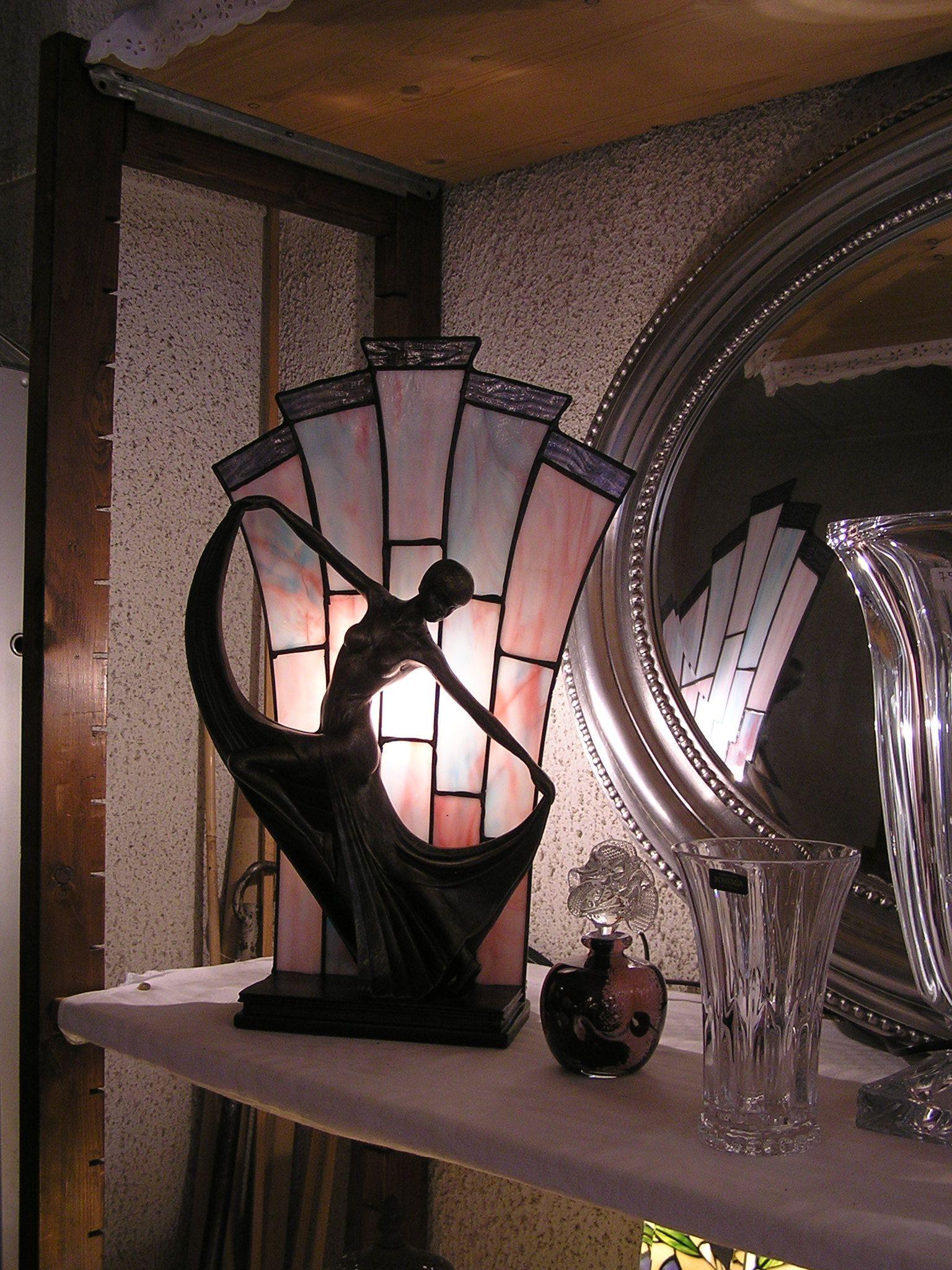 Statuette-lampe Art Nouveau