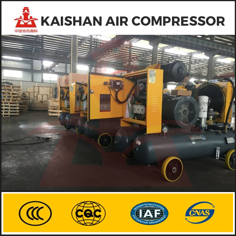 Integrated air compressor for auto repair shop