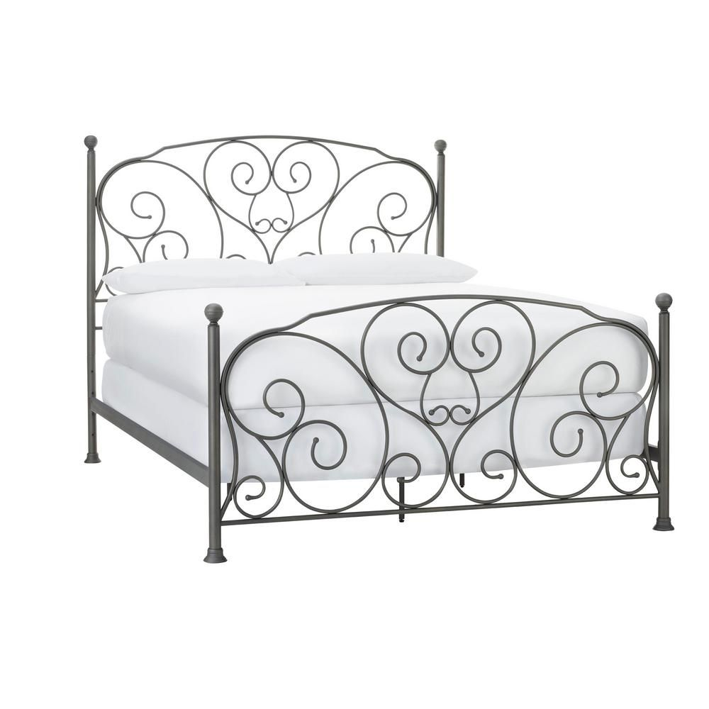 Stylewell Dayport Oil Rubbed Bronze Metal Full Scroll Bed 58 2 In W X 54 92 In H Bd8045f In 2020 Wrought Iron Bed Frames Bed Frame Wrought Iron Beds