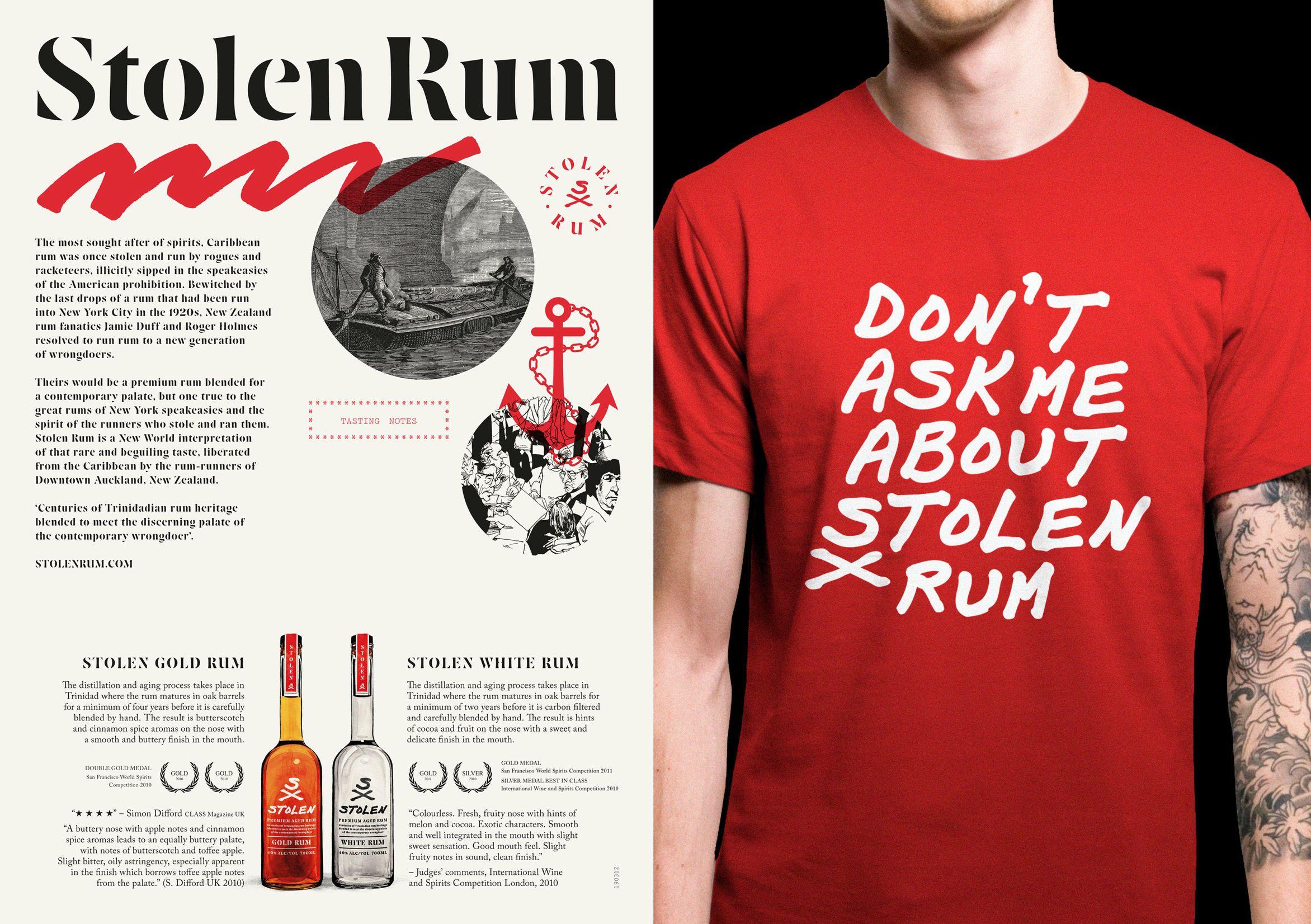 Stolen Rum Best Awards Rum Design Branding Inspiration