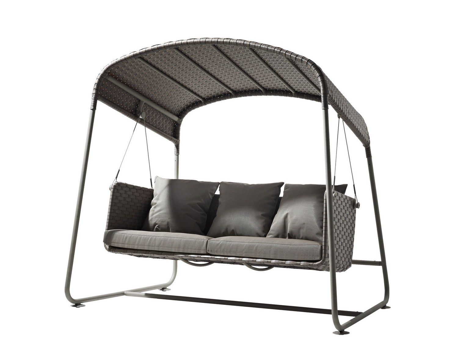 Canopy seater garden swing seat cave by caneline outdoor space