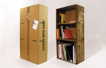 elements cardboard id of large picture bookshelf