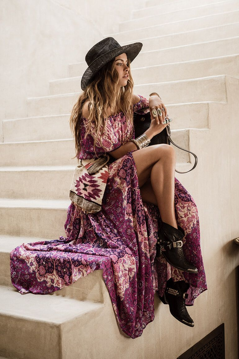 Mimi Elashiry Is A Bohemian Princess In Spell's LookBook