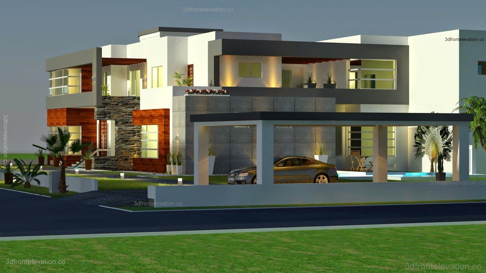 واجهات منازل عصرية تصاميم حديثة أفخم واجهات3d تصميم بيوت معاصرة اجمل التصامي Modern Contemporary House Plans Contemporary House Design Contemporary House Plans