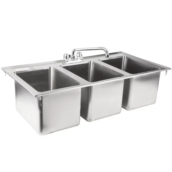 Regency 10 X 14 X 10 16 Gauge Stainless Steel In 2020 Sink Drop In Sink Sink Faucets