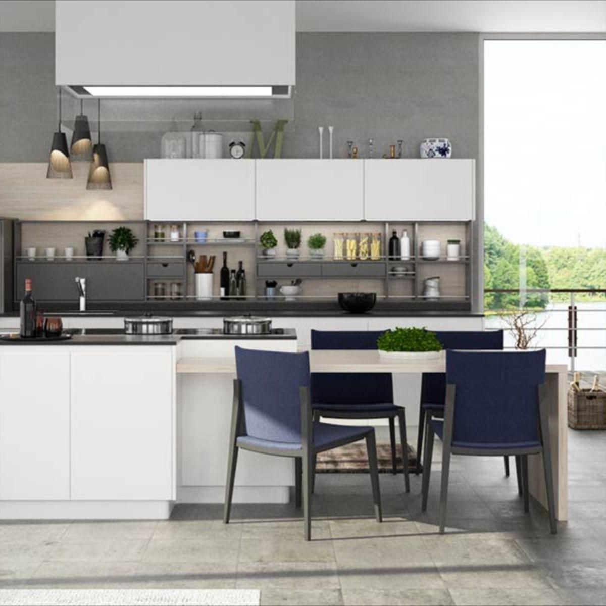 Nl Furniture Modern White And Gray Matte Lacquer Kitchen Cabinet In 2020 Kitchen Cabinets Kitchen Cabinet Manufacturers Kitchen Cabinet Makers