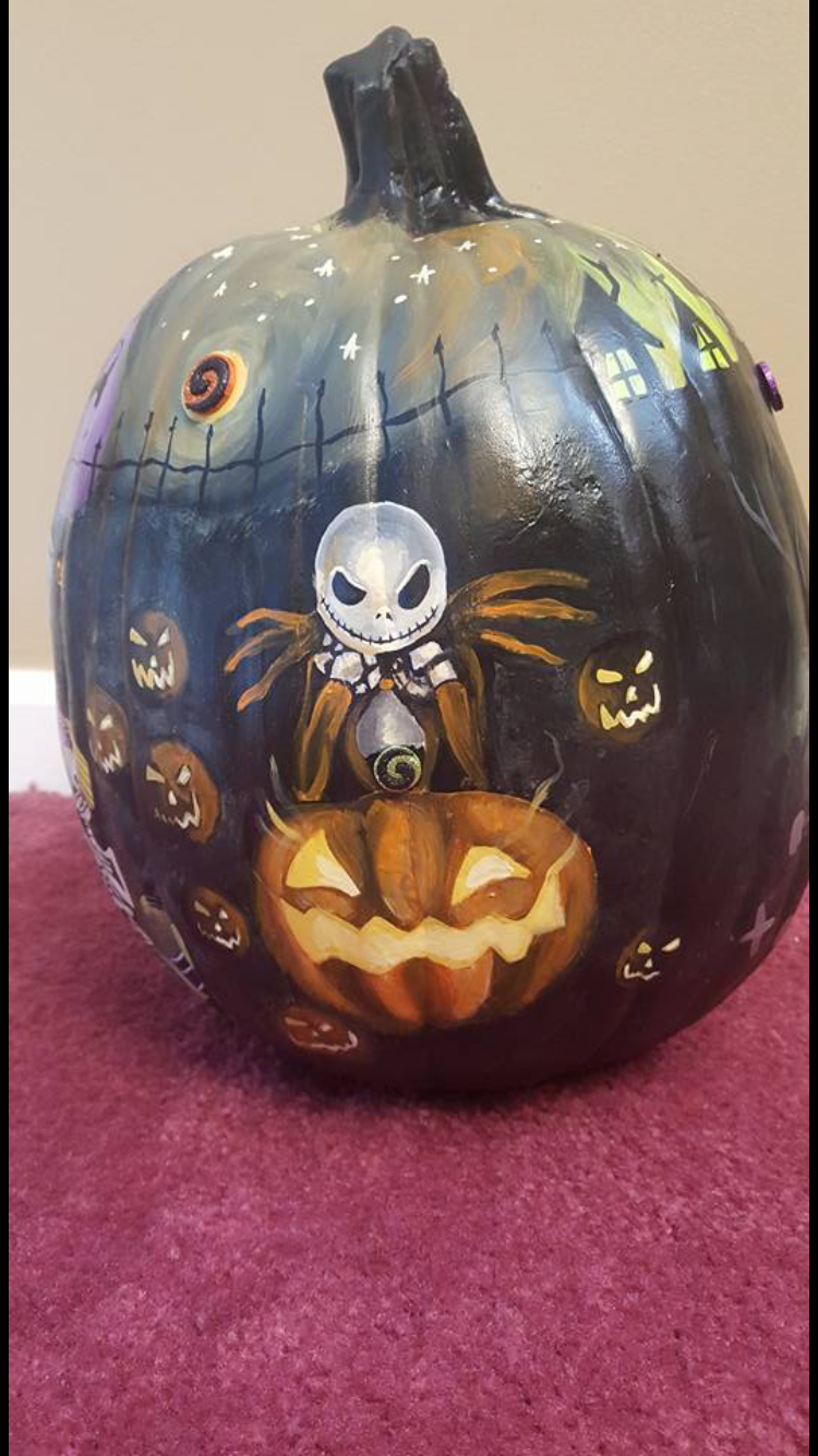 Love it #pumpkinpaintingideas