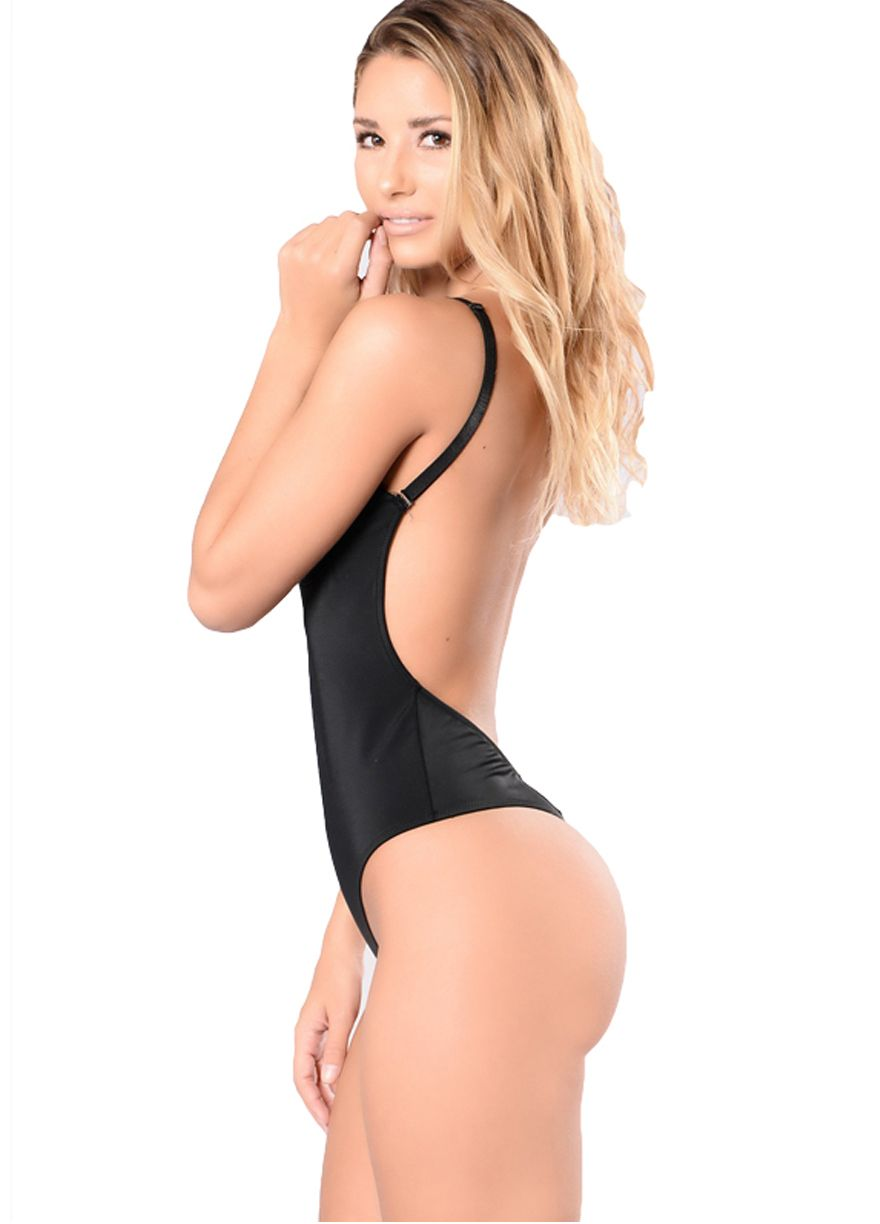 Black Molded Open Back Body Thong Shaper Body Shaper Shapewear Sexy  Lingeire  32504371a