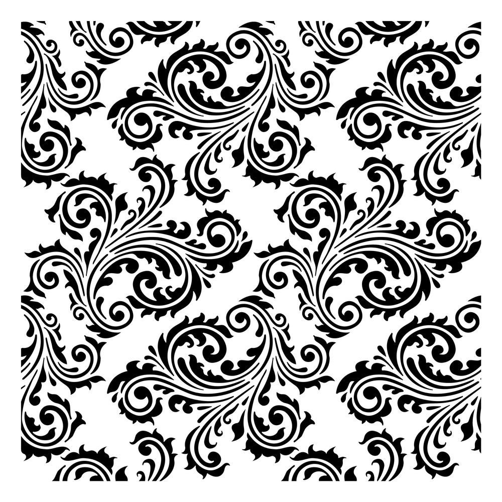 Designer Stencils Scroll Damask Stencil 10 Mil Plastic Fs072 The Home Depot Damask Stencil Stencils Wall Wallpaper Stencil