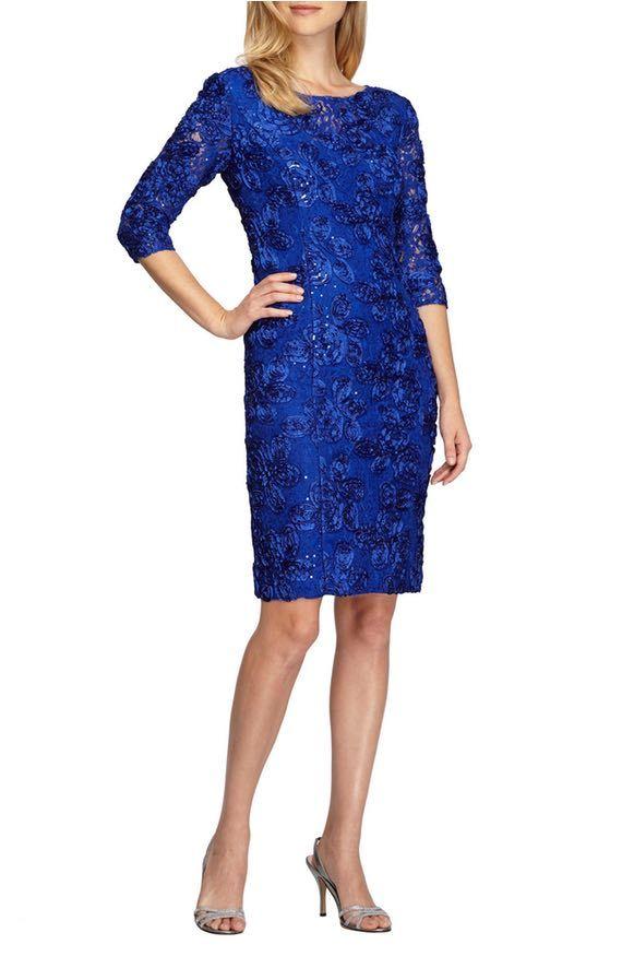 Alex Evenings Rosette Lace Sheath Dress | Nordstrom | Lace ...