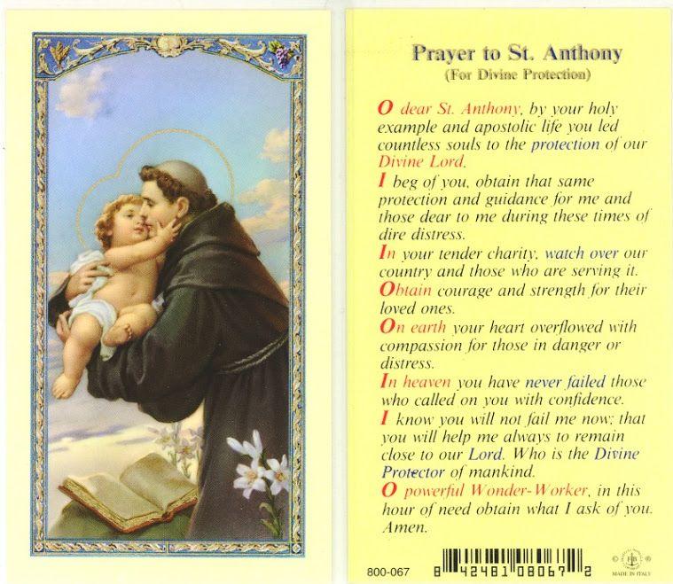 Photo:   St anthony prayer, Prayers, Catholic prayer