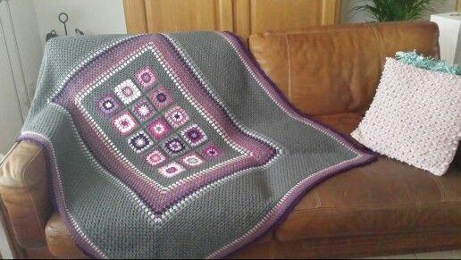 Granny square deken.