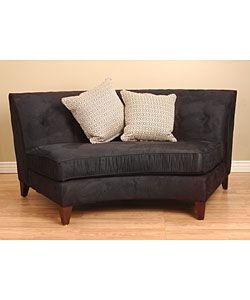 Black Armless Curved Loveseat Ping The Best Deals On Sofas Loveseats