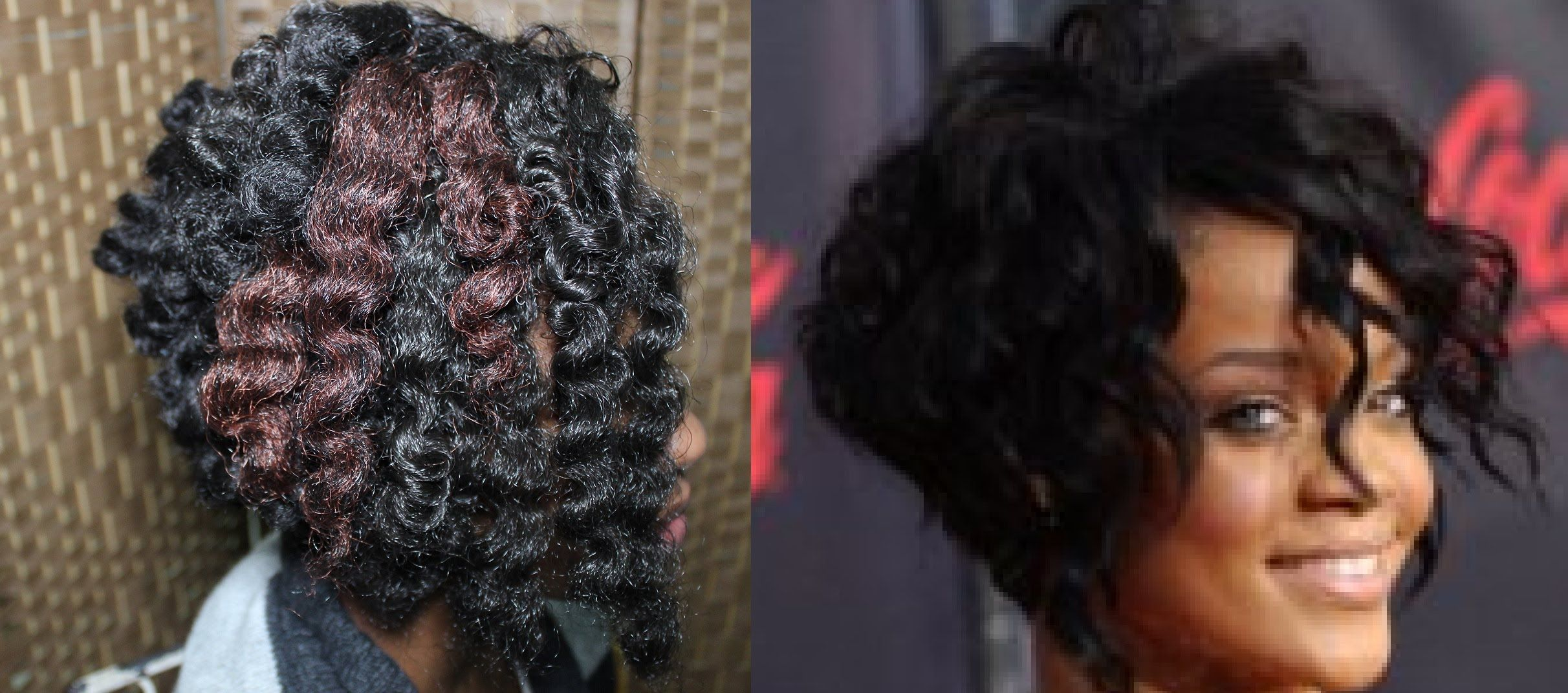 Beauty Rihanna Inspired Angled Cut Bob On Crochet Braids Natural
