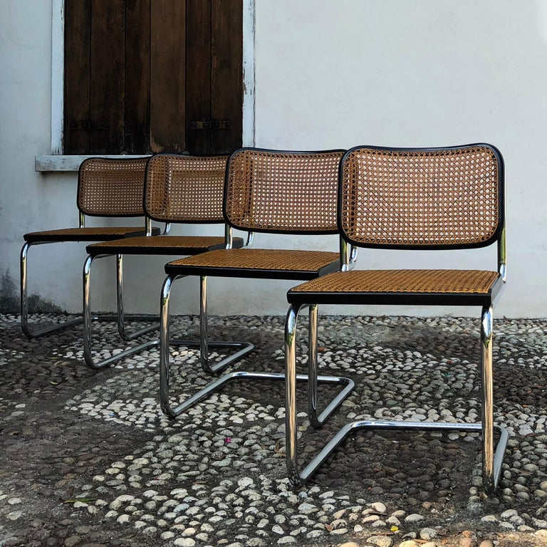 Marcel Breuer B32 Cesca Dining Room Chairs for Gavina