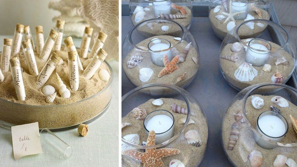 Centre De Table Sable Coquillage D Co Table Mariage