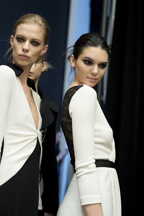 Lexi Boling, Kendall Jenner and Vanessa Moody - Backstage at Diane Von Furstenberg Fall 2015   NYFW.