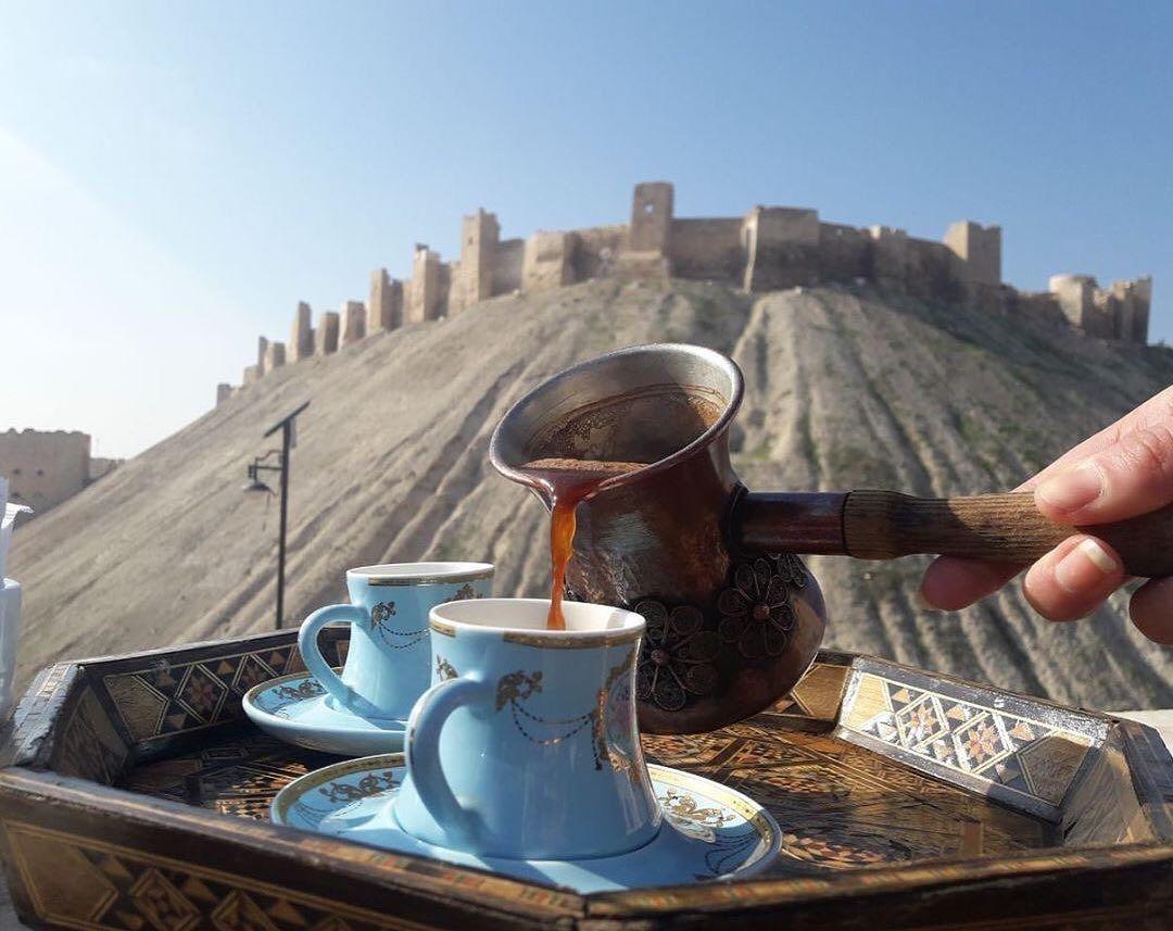 Explore Syria اكتشف سوريا On Instagram فنجان قهوة قدام قلعة حلب مين شتهيتو بهيك قعدة Citadel Coffee Coffee Maker Kitchen Appliances