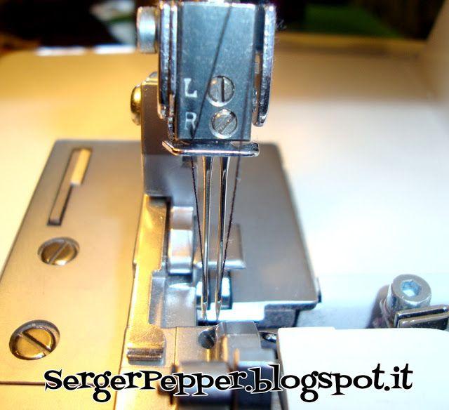 Threading a Serger (Made simple) - Tutorial infilatura in 3 semplici passi - Necchi 181 - Serger Pepper