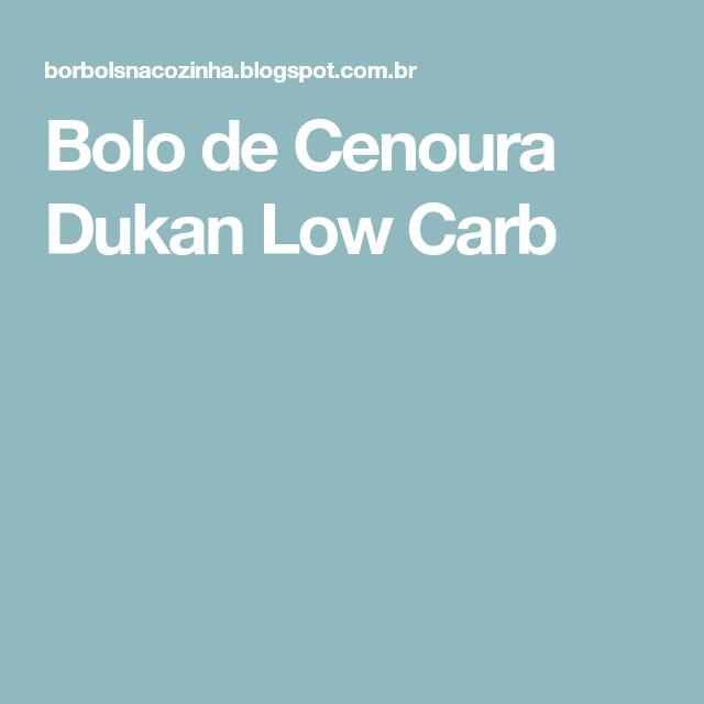 Bolo de Cenoura Dukan Low Carb
