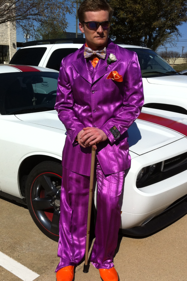 We have the Best Prom Ideas for Men. Purple Prom Suit with orange ...