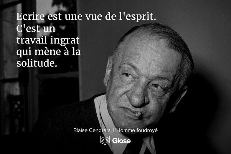 Blaise Cendrars L Homme Foudroyé Surlignez Partagez Et