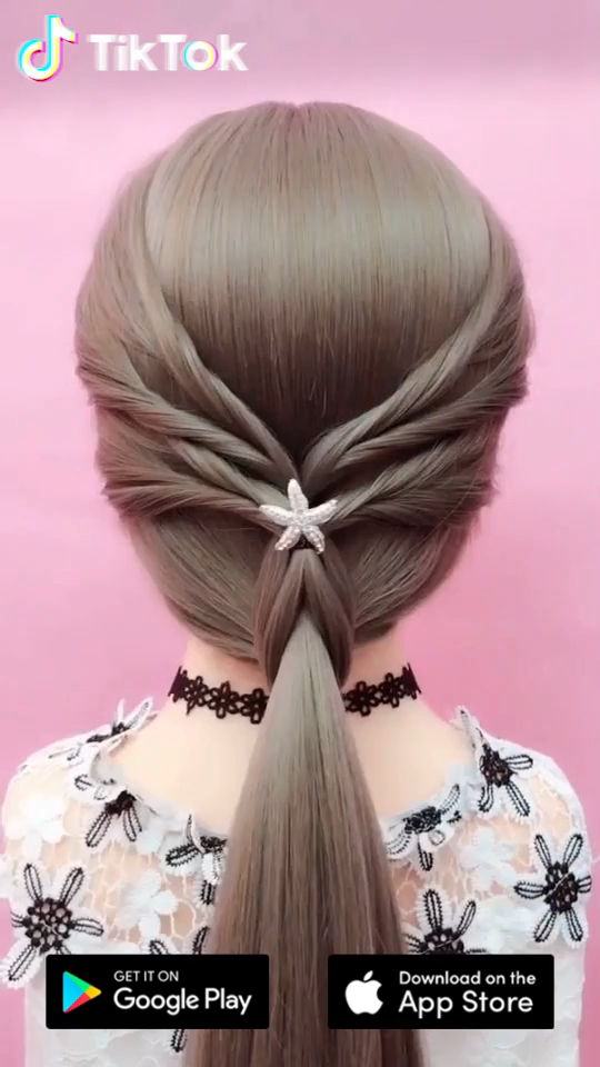 Super easy to try a new #hairstyle ! Download #TikTok today to find more amazing videos. Also you can post videos to show your unique hairstyles! Life's moving fast, so make every second count. #hair #beauty #DIY #entertainment #diyhairstyles