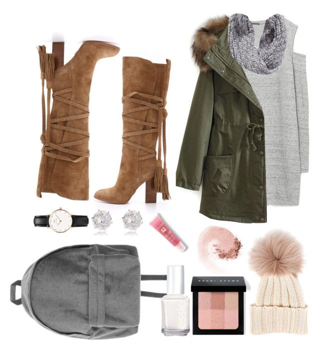 """""""Untitled #123"""" by sylvieraith on Polyvore featuring Zara, WithChic, Michael Kors, Collection XIIX, Inverni, Bobbi Brown Cosmetics, Essie, NARS Cosmetics, Lancôme and River Island"""